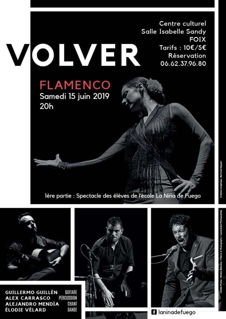 Affiche du spectacle de Flamenco VOLVER